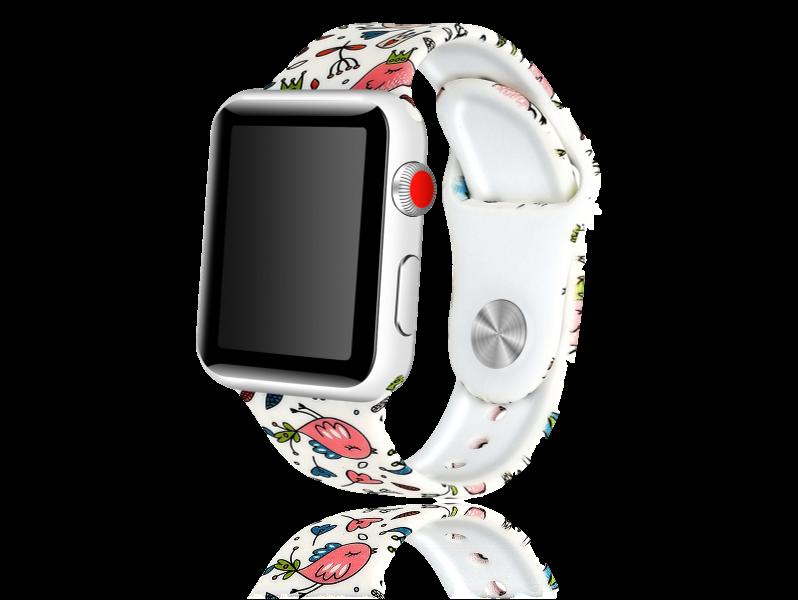 Image of   Artigas rem i Genuine Læder til Apple Watch 1 / 2 / 3 / 4 / 5 38mm & 40mm-Hvid