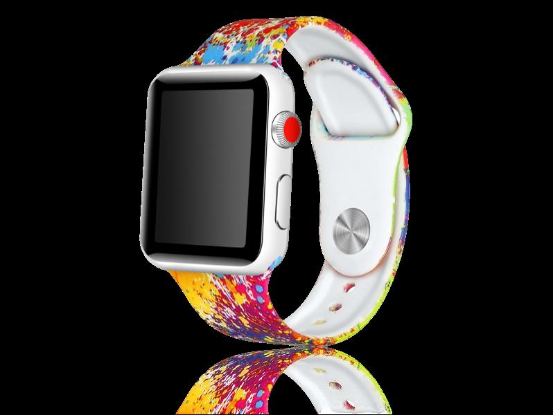 Image of   Artigas rem i Genuine Læder til Apple Watch 1 / 2 / 3 / 4 / 5 42mm & 44mm-Rød