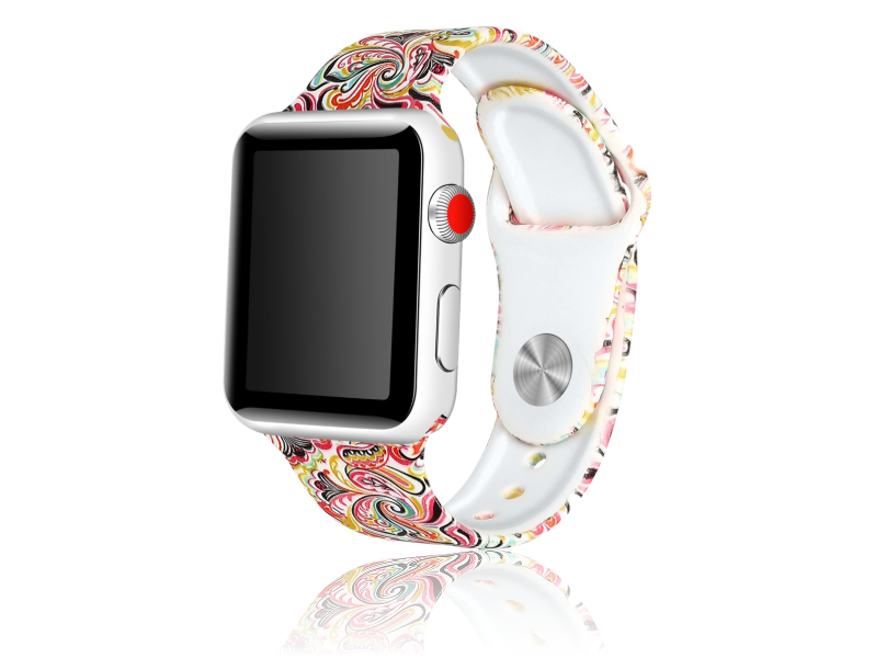 Image of   Artigas rem i Genuine Læder til Apple Watch 1 / 2 / 3 / 4 / 5 42mm & 44mm-Orange