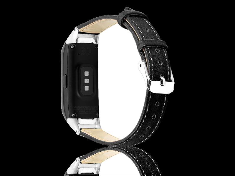 Læder Rem Til Samsung Galaxy Fit-Sort