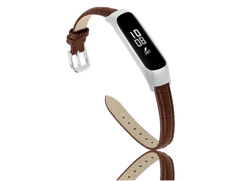 Croco Læder Rem Til Samsung Galaxy Fit E-Brun Samsung Galaxy Fit E - R375