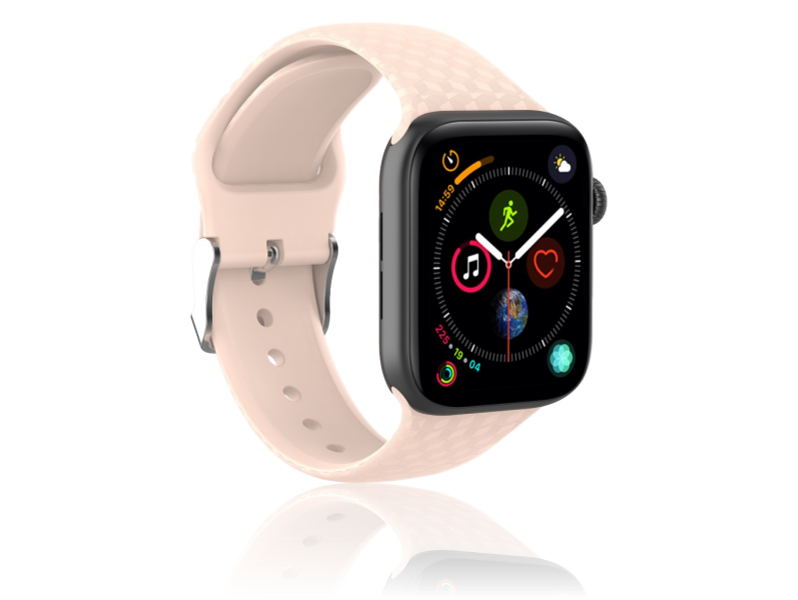 Image of   Diamond Silicone rem til Apple Watch Series 1 / 2 / 3 / 4 / 5 - 38 / 40mm-Rosa