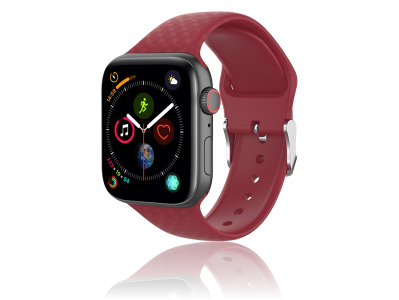 Image of   Diamond Silicone rem til Apple Watch Series 1 / 2 / 3 / 4 / 5 - 38 / 40mm-Rød