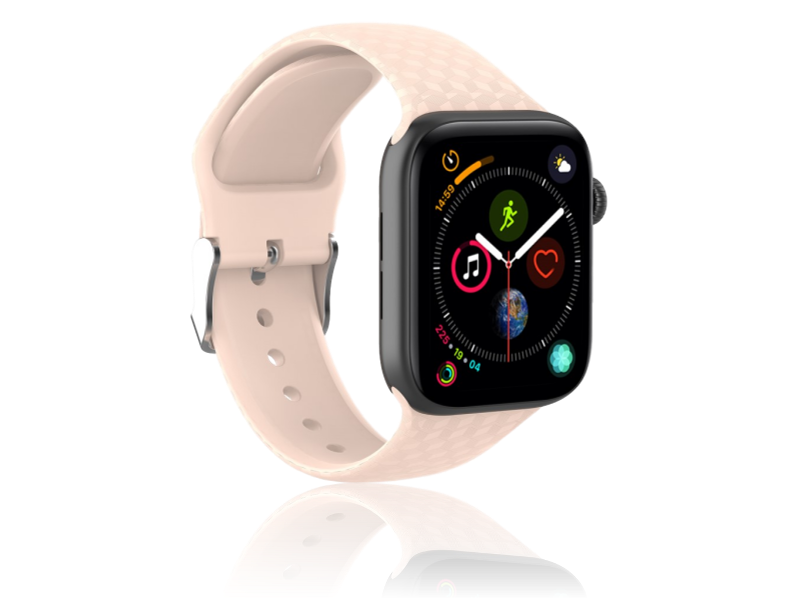 Image of   Diamond Silicone rem til Apple Watch Series 1 / 2 / 3 / 4 / 5 - 42 / 44mm-Rosa