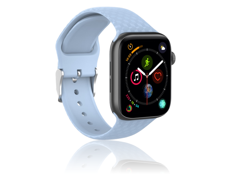 Image of   Diamond Silicone rem til Apple Watch Series 1 / 2 / 3 / 4 / 5 - 42 / 44mm-Lyseblå