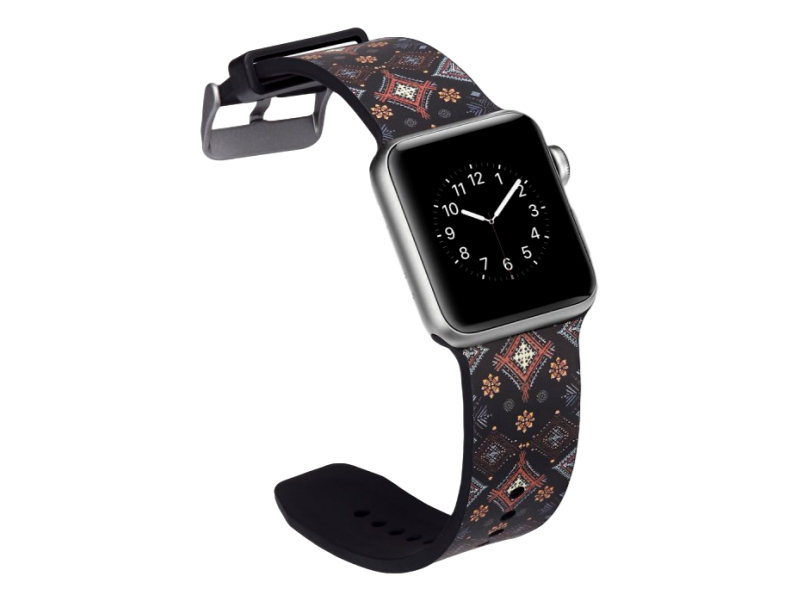 Image of   Crocus rem til Apple Watch Series 1 / 2 / 3 / 4 - 42 / 44mm-Sort
