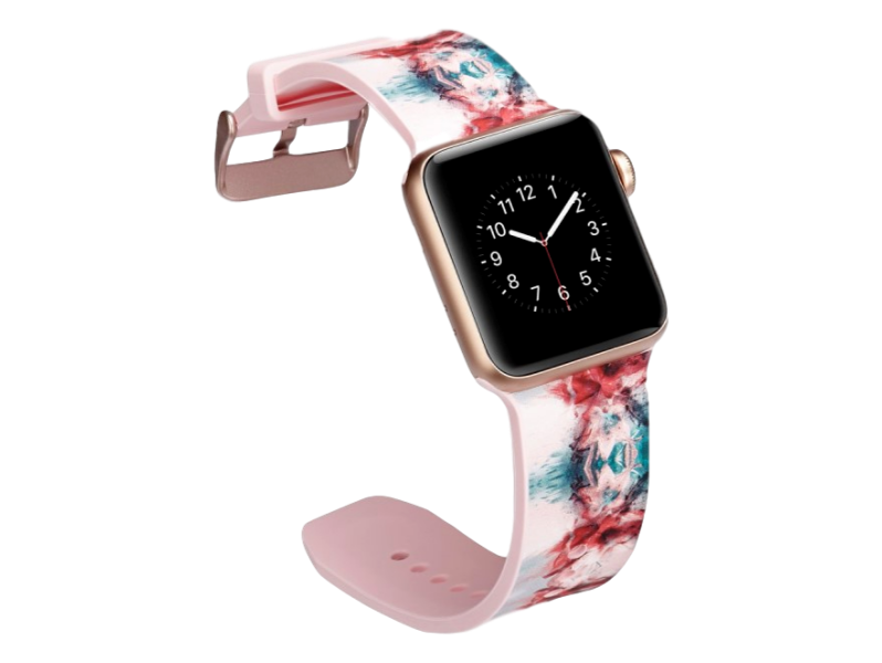 Image of   Crocus rem til Apple Watch Series 1 / 2 / 3 / 4 - 42 / 44mm-Pink