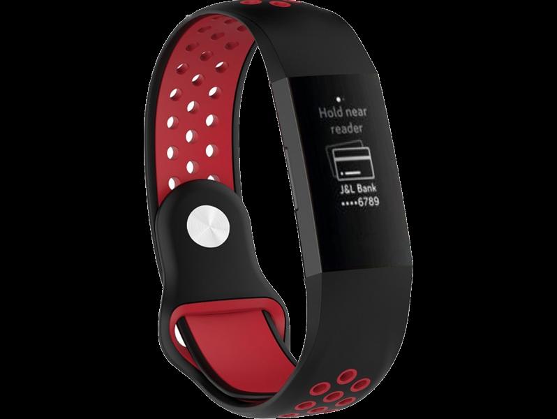 Tofarvet silicone rem til Fitbit Charge 3 / 4