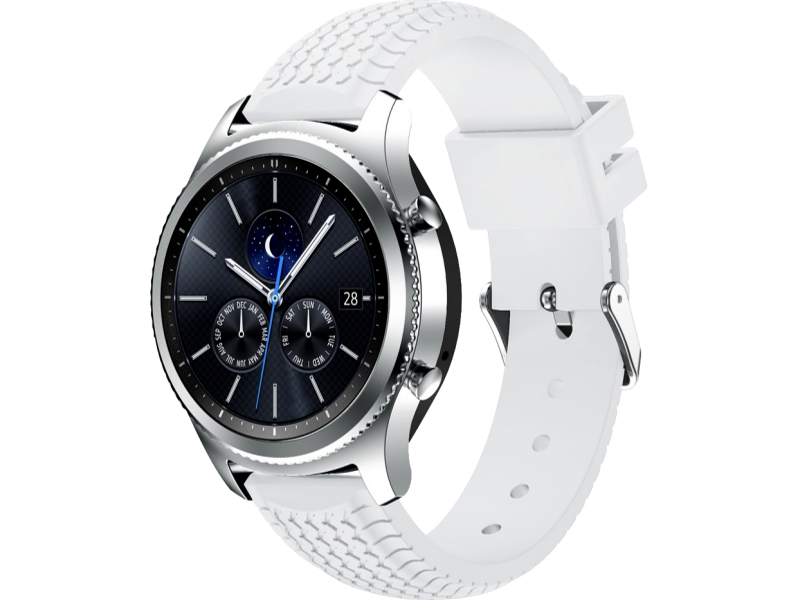 Image of   Aversa rem i silicone til Samsung Gear S3 / Galaxy Watch 46mm-Hvid