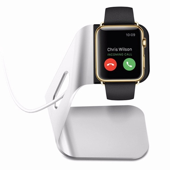 Image of   Atatus Apple Watch Stand i Sølv Aluminium