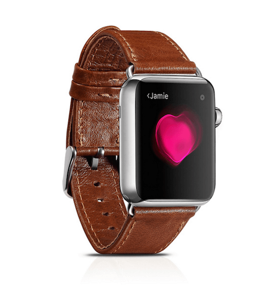 Image of   iCarer Apple Watch Genuine læderrem til 38mm