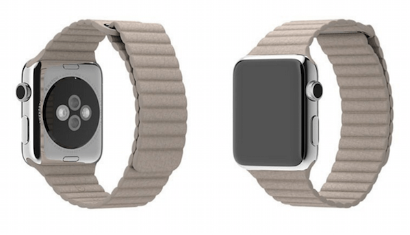 Billede af Apple Watch Loop Genuine læderrem - Sand 42mm