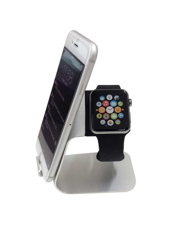 Billede af Bellus Apple Watch stand m. smartphone holder