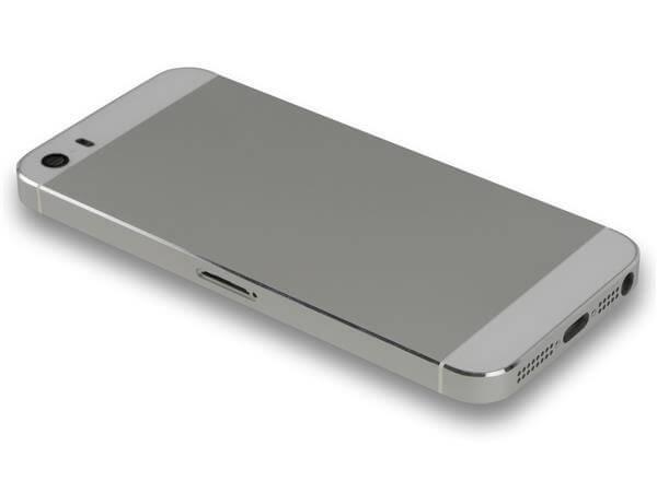 Image of   iPhone 5S bagside cover / bagskærm-Sølv