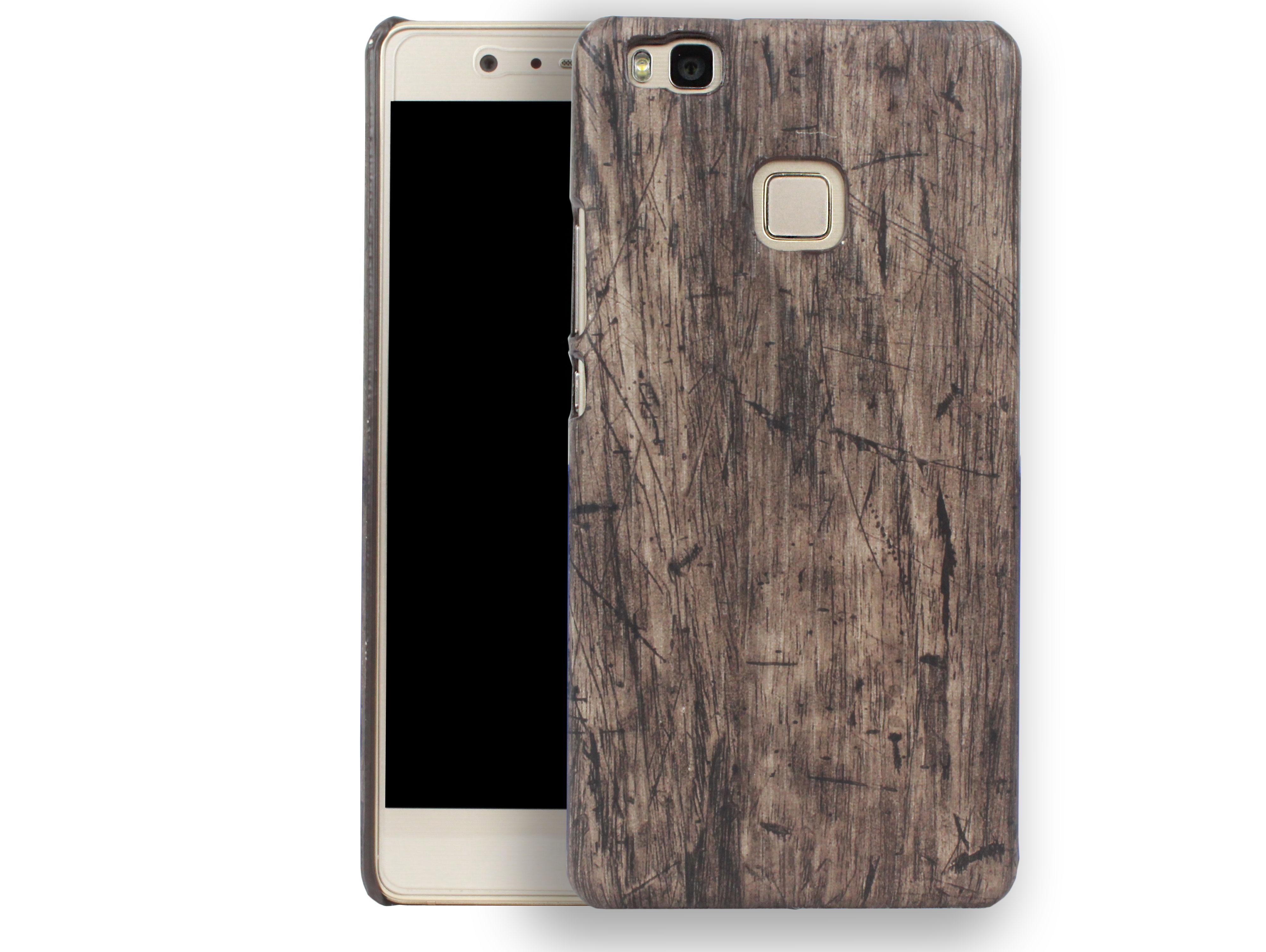 Kasseri Huawei P9 Lite Cover i træ look