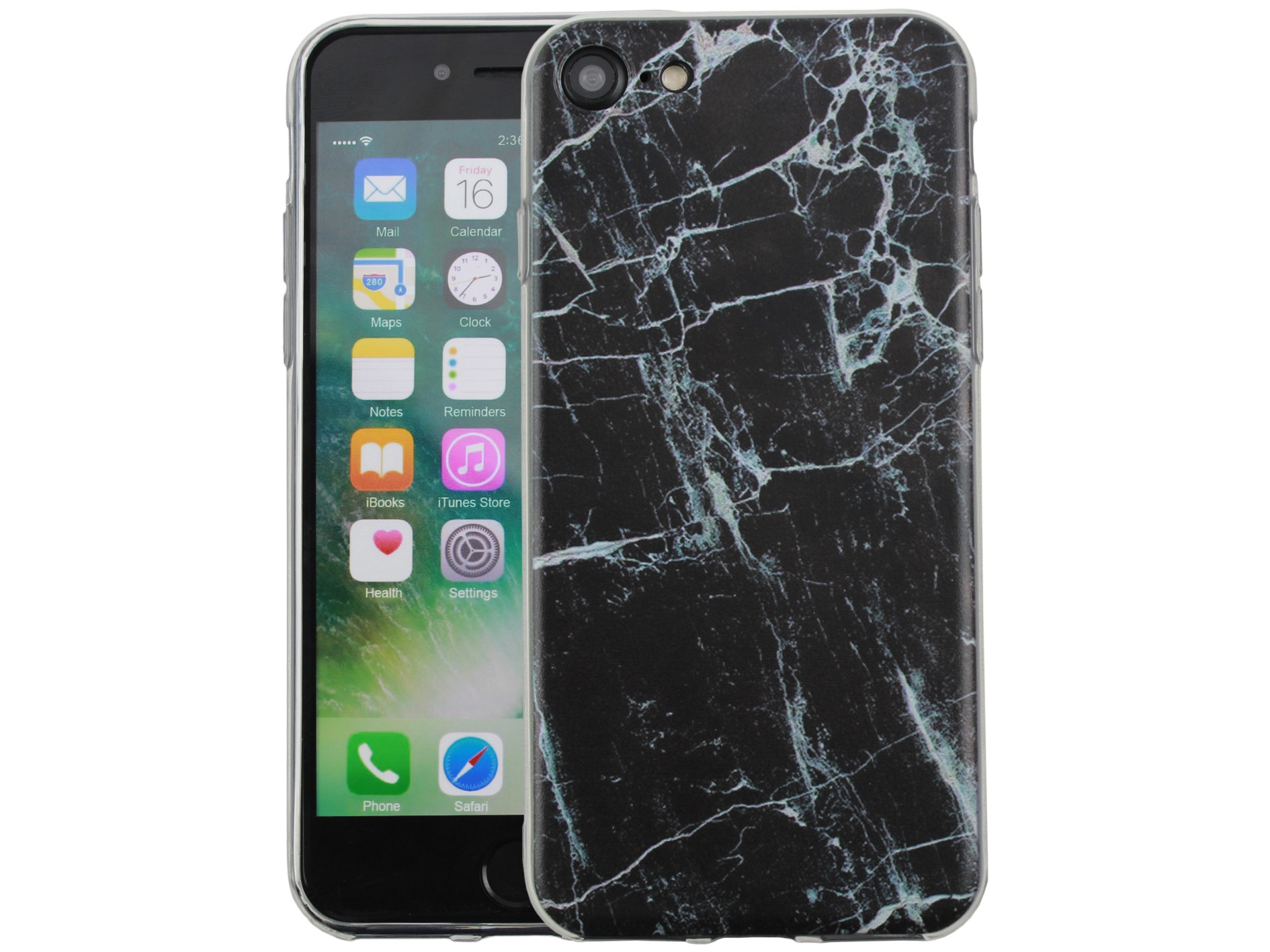 Image of   Sort iPhone 7/8 Marmor Cover