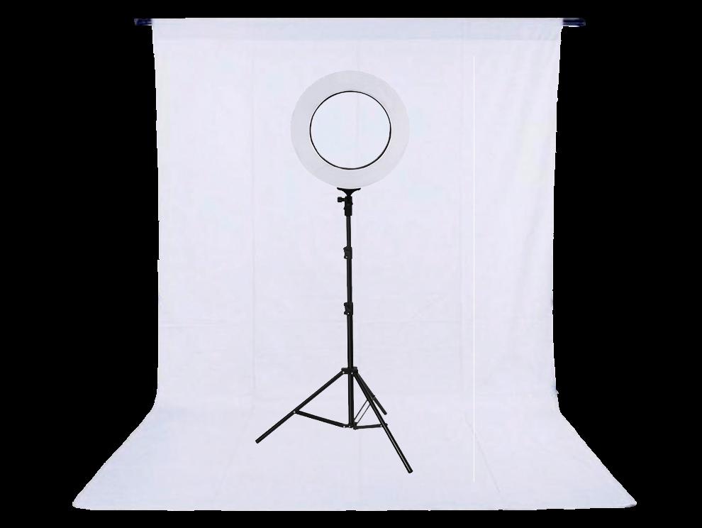 Image of   Komplet fotostudie med ringlys