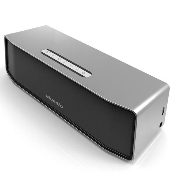 Bluedio mini Trådløs Bluetooth Højtaler med 3D Lyd System - Til mobil, iPhone, Computer & Tablet-sølv