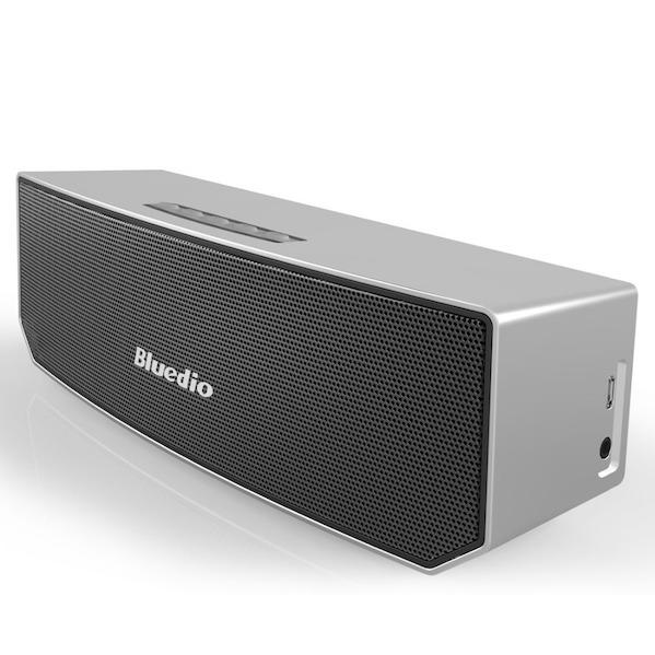 Bluedio Bluetooth 4.1 Trådløs Højtaler med 3D Lyd & Surround i sølv