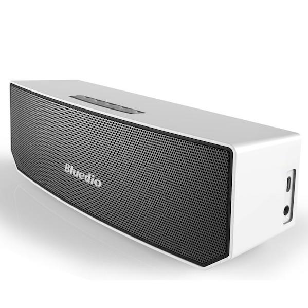 Bluedio Bluetooth 4.1 Trådløs Højtaler med 3D Lyd & Surround i hvid