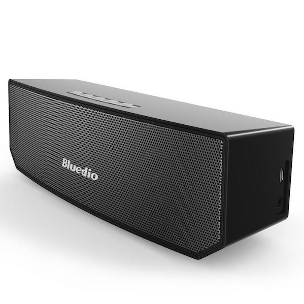 Bluedio Bluetooth 4.1 Trådløs Højtaler med 3D Lyd & Surround-Sort