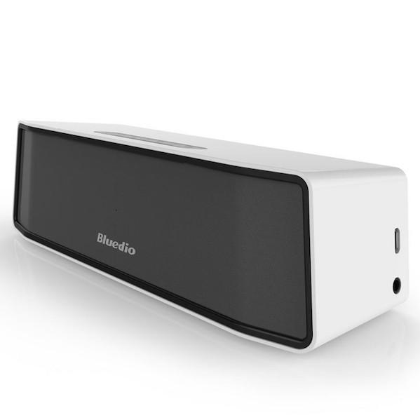 Bluedio mini Trådløs Bluetooth Højtaler med 3D Lyd System – Til mobil, iPhone, Computer & Tablet-hvid