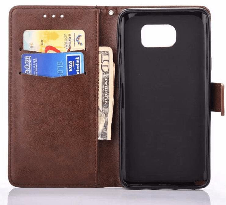 Silba Flip cover pung til Huawei P8-Brun