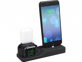 Silicone Holder til Apple Watch, AirPods & Smartphone