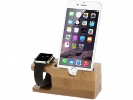 Holder i Træ til Apple Watch & iPhone / Smartphone
