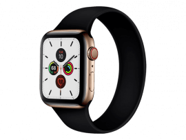 Silikone Rem til Apple Watch 6 40 mm i Solo Loop design - str. M