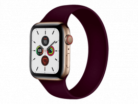 Silikone Rem til Apple Watch 3 38 mm i Solo Loop design - str. L