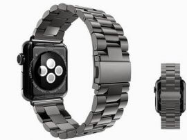 Rem / urlænke i rustfrit stål til Apple Watch 4