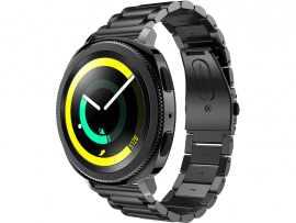 Bolzano rem til Samsung Galaxy Watch Active 2 40/44mm-Sort