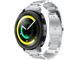 Bolzano rem til Samsung Galaxy Watch Active 2 40/44mm-Sølv