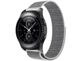 Suwon velcro rem til Samsung Galaxy Watch Active 2 40/44mm-Sølv