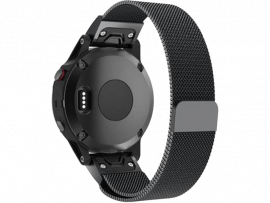 Mesh rem til Garmin Instinct / Solar / Tactical / Esports-Sort