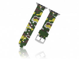 Camouflage rem i Silicone til Apple Watch 1 / 2 / 3 / 4 / 5 38mm & 40mm