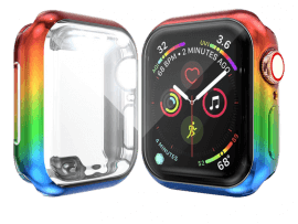 Rainbow Cover m/ Skærmbeskyttelse til Apple Watch 6 44mm
