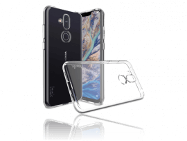 Transparent TPU Cover til Nokia 8.1
