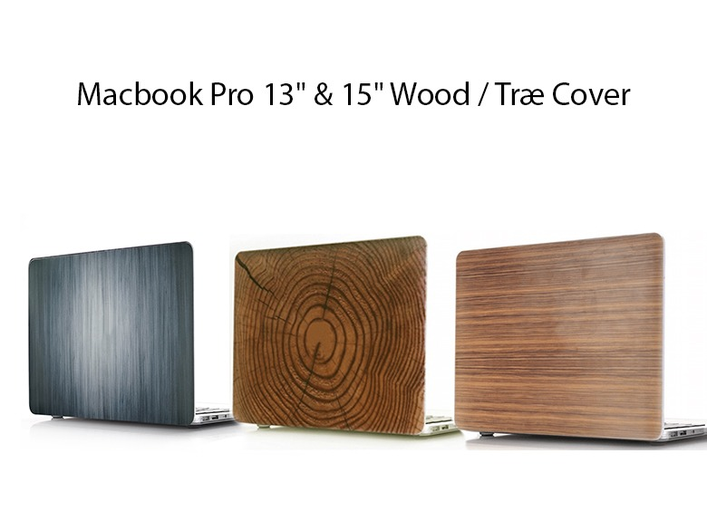 """Macbook Pro 13"""" & 15"""" Wood / Træ Cover"""