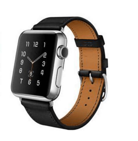 Billede af Sort læderrem til Apple watch