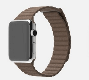 Billede af Apple watch Loop Genuine læderrem - Brun 42mm