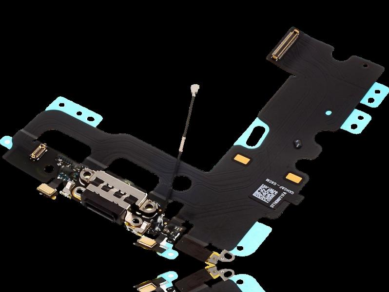 Image of   Hovedtelefon- og opladerindgang + mikrofon til iPhone 7-Sort