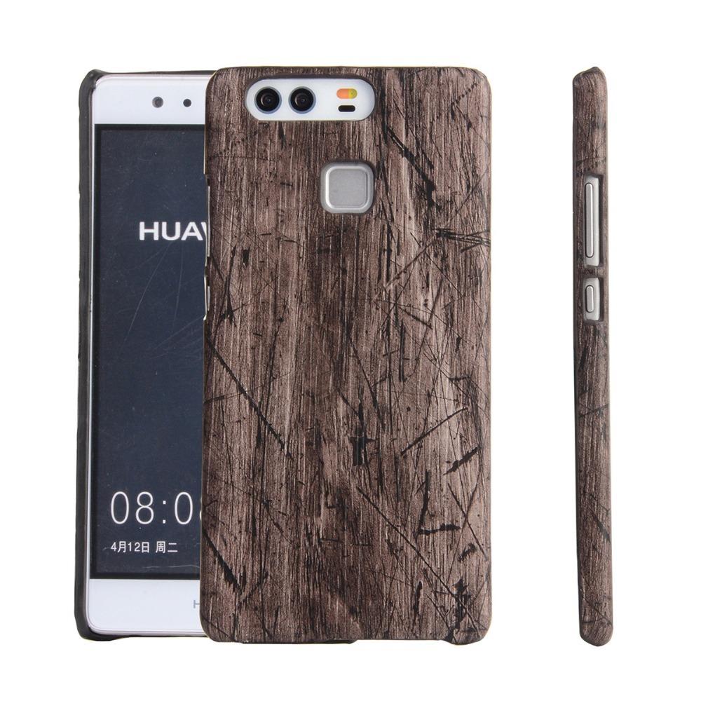 Kasseri Huawei P9 Cover i Træ look