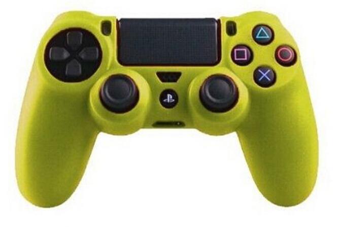 Silikone sleeve til PS4 controller -Gul