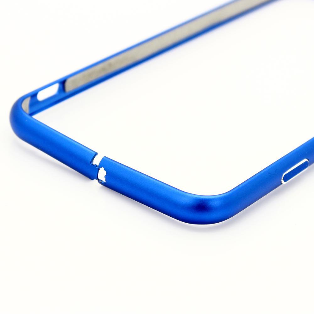 iPhone 6 / 6S bumper i børstet aluminium-Blå