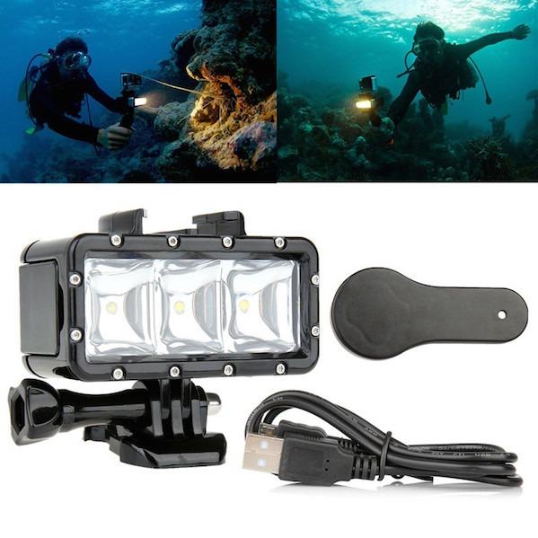 Billede af LED Lygte til GoPro - til dykning og natoptagelser