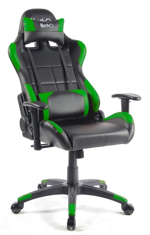 High Performance Gamingchair NQ-100 NorthQ-Grøn