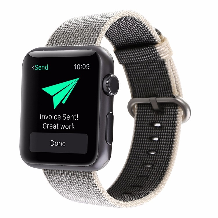 Gili rem i Nylon til Apple Watch-Grå-42 mm