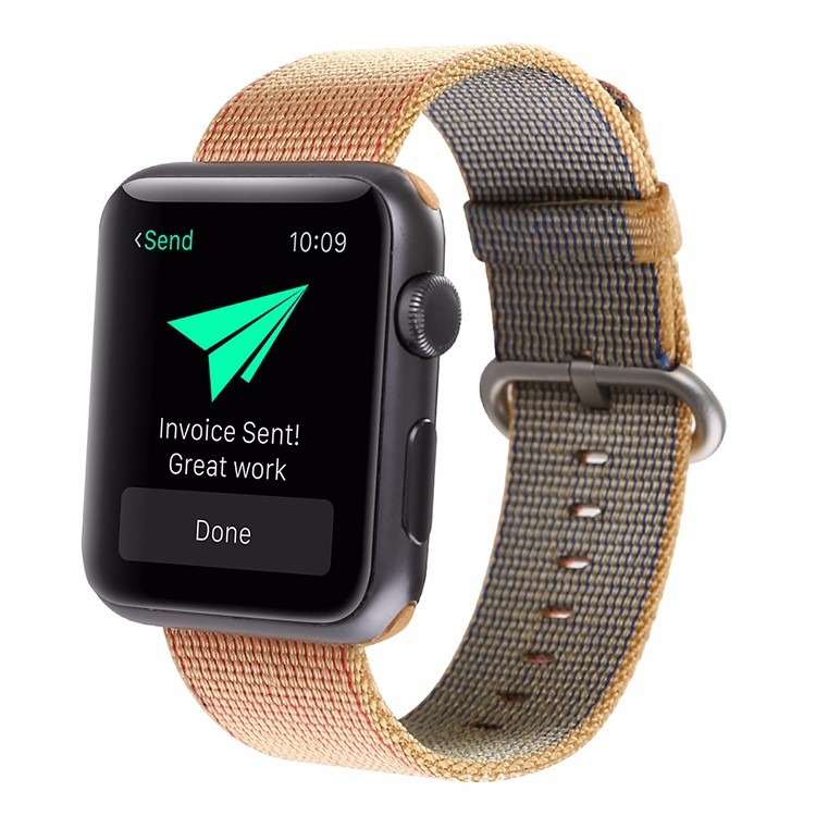 Gili rem i Nylon til Apple Watch-Gul-38 mm